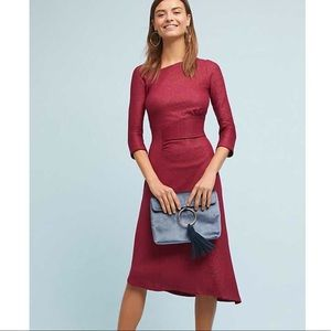 Anthro Akemi + kin Red Knit Tegan Dress